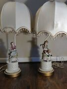Andrea By Sadek Victorian Style Gentleman And Lady 28 Table Lamp Set Of 2