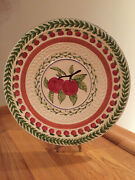 Strata Group Fresh Nand039 Fruityandtrade Apple Embossed French Country Dinner Plate Nwob
