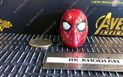 Hot Toys Mms482 Infinity War Iron Spider-man 1/6 Action Figure's Masked Head