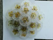 Large Chandelier Ceiling Light Murano Glass 17 Blossom 6 Years Sixties 25 5/8in