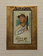 🔥2020 Allen And Ginter Bobby Bradley Framed Mini Rookie On Card Auto Indians Rc🔥