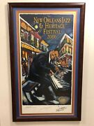 2006 New Orleans Jazz Fest Poster - Re-marque 527/1000 Fats Dominoe