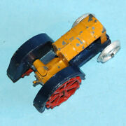 Dinky Toys England 1933 - 1940 22e Farm Tractor Yellow Blue Red With Hook