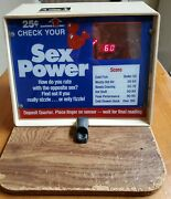 Love Tester Pulse Tester Arcade Vending Coin Operated Not Working Properly