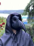 Black Leather Plague Doctor Mask, Steampunk Plague Doctor Mask