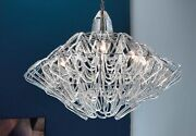 Suspended Lights Classic Chrome With Crystal Clear