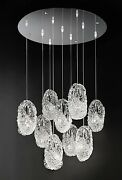 Suspended Lights Classic Chrome With Crystal Clear And Glass