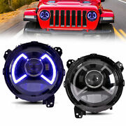 Round Headlight Replacement Projector For Jeep Wrangler Jl Jlu Gladiator 2018-20