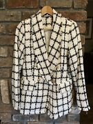 Sam And Lili Paris Check Jacket Tailored Uk 10 Great Condition