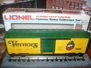 Lionel Vernors Ginger Ale Boxcar 6-7809