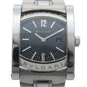 Bvlgari Aa39s Assioma Quartz Menand039s Watch With Box Shipped From Japan
