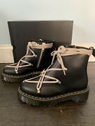 Rick Owens X Doc Martens 1460 Bex Leather Lace Up Boots Size 7   In Hand