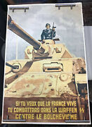 France Ww-2, Recruiting Soldier, Waffen-grenadier-division,very Fine Poster