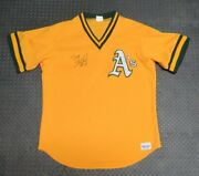 1980and039s Terry Steinbach Oakland Aand039s Game Used Worn Bp Baseball Jersey Signed Mlb