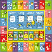 Rug Abc Alphabet Collection Seasons Months Days Week Educational Play Time