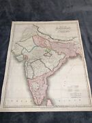 Map Of Hindoostan Drawn For Milland039s History Of British India By Arrowsmith 1817