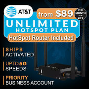 Unlimited Hotspot Data Plan W/router - Plans From 89 Mo With No Contract