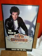 Vtg 22x14 The Magic Of David Copperfield Magic For 90s Tour Poster Autographed