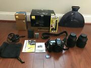 Nikon D90 Dslr Camera With Two Lenses 18-105 And 55-200 12.3 Mp Resolution