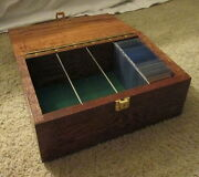 Baseball Card Wooden Box Custom Built For Collectors Holds 420+ Raw Cards