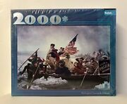 2000 Piece Puzzle Buffalo Games Washington Crossing The Delaware W/poster - New