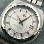 Rado Rising Star Swiss Made Stainless Steel Silver Dial Date Analog Menand039s Watch