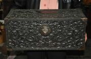 Rare Old Chinese Rosewood Wood Hand-carved Dragon Loong Statue Storage Box Case