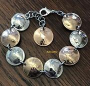 50th Birthday 1971 Or Pick Any Year Penny And Dime Coin Bracelet Anniversary Gift