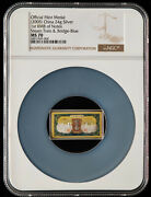 Ngc Ms70 2005 China 24g Silver Medal - 1st Rmb Note - 50 Y - Train And Blue Bridge