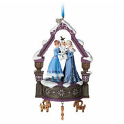 2017 Disney Store Singing Olaf's Frozen Adventure Anna And Elsa Musical Ornament