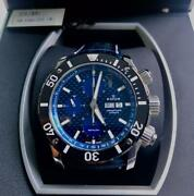 Edox Chrono Offshore Automatic 01114-3buin-l Menand039s Analog Watch Japan Shipped