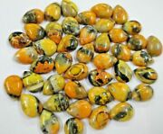 Natural Bumble Bee Jasper Pear Cabochon Loose Gemstones Size 8x12mm To 16x32mm