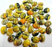 Natural Bumble Bee Jasper Oval Cabochon Loose Gemstones Size 8x10mm To 16x32mm