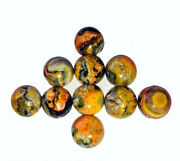 Natural Bumble Bee Jasper Cabochon Loose Gemstones Round Shape Size 16mm To 20mm