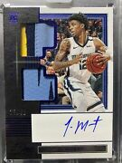 2019-20 Panini One And One Ja Morant 3 Color Patch Auto 25/49