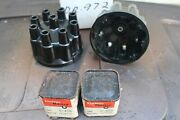 Packard Delco Remy 2 Distributor Caps Nos + Rotors 1951-54 Senior Packards