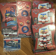 Disney Cars Party Supplies Lot Cupcake Stands, Banner And Decorations