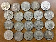1934 P 20 Peace Dollars Vg/xf  Scarcer Date Roll