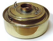 Replacement Dietz Vesta Oil Pot Polished And Lacquered Brass Tall 1-3/8 Sidewall