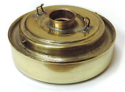 Replacement Dietz Vesta Oil Pot Polished And Lacquered Brass Short 1-1/8 Sidewall