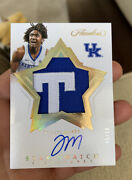 Tyrese Maxey 2020-21 Panini Flawless Star Swatch Gold Rc Patch Auto 05/10