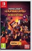 Minecraft Dungeons Hero Edition Nintendo Switch And Switch Lite Mojang - New
