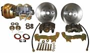 1959-60 Cadillac Front Power Disc Brake Conversion Kit - Drilled And Slotted Rotor