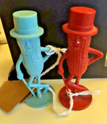 Mr Peanut Salt And Pepper Shakers Red And Blue