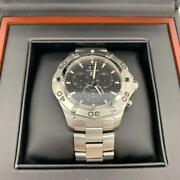 tag Heuer Caf101e.ba0821 Aqua Racer Analog Menand039s Watch Shipped From Japan