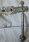 Judaica, Jewish Silver And Mixed Metal's With Agate Stones, Purim Gragger