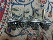 Judaica, Jewish Silver And Mixed Metal's With Agate Stones, Set Of 4 Sevivon