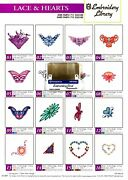 Lace And Hearts Embroidery Designs Card For Husqvarna Viking Sewing Machines