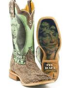 Tin Haul Menand039s Duece Take The Money And Run Cowboy Boot Square Toe -