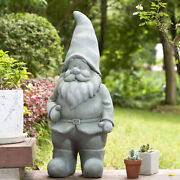 Glitzhome 28h Mgo Large Funny Gnome Statue Indoor Outdoor Garden Artistic Decor